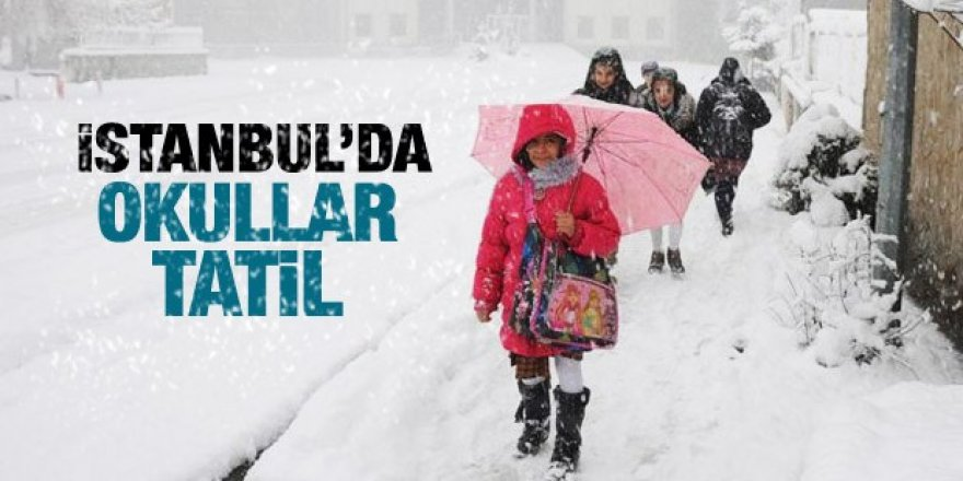 İstanbul'da okullar tatil edildi - 25 Şubat Pazartesi