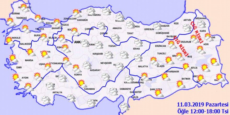 Hava sıcaklığı mevsim normalleri üzerinde! 11 Mart 2019