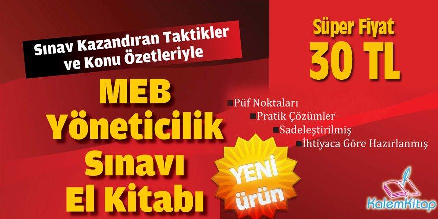 MEB Yöneticilik Sınavı (EKYS) Hazırlık Kitabı: Sadece 30 TL!