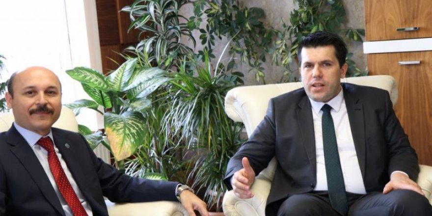 Makedonya Devlet Bakanı Elvin Hasan, Talip Geylan'ı ziyaret etti.