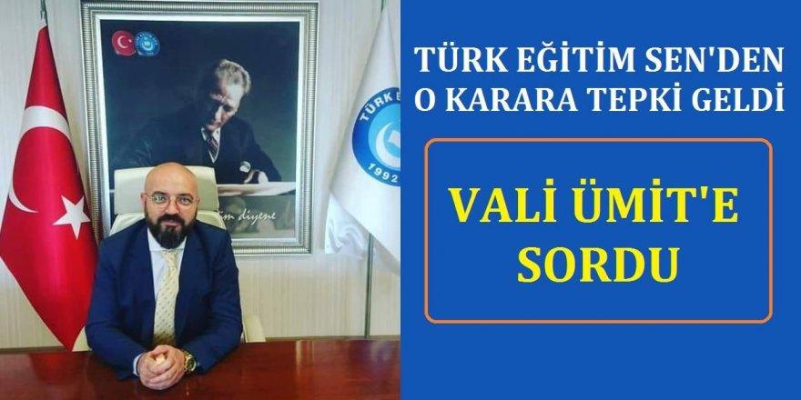 Türk Eğitim-Sen'den O Karara Tepki! Soruşturma İzni Çıkmayınca...