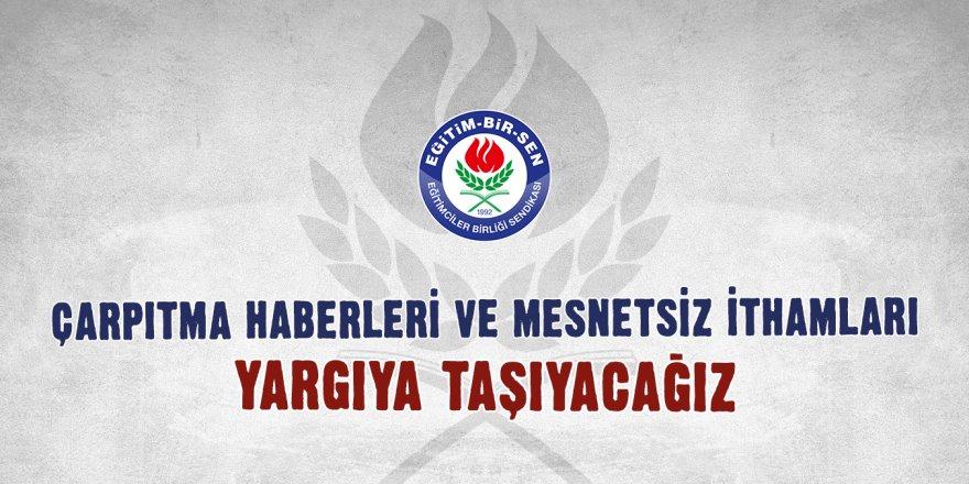 Eğitim-Bir-Sen'den Yönetici Atama Tepkisi: Çarpıtma haberler ve mesnetsiz ithamlar...