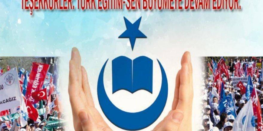 Türk Eğitim-Sen Üye Sayısı Belli Oldu! Büyümeye Devam Ediyor...