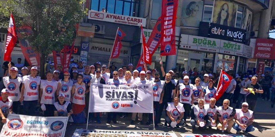 Eğitimciler, Sivas Katliamını 26 Yılında Andı!
