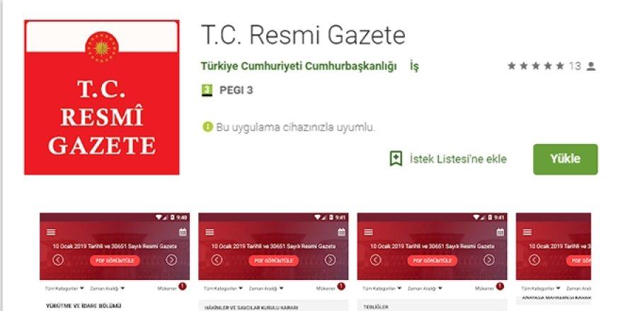 Resmi Gazete'nin, mobil uygulamaları yayımlandı