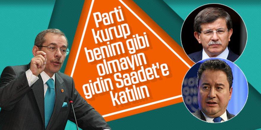 Abdüllatif Şener'den Davutoğlu ile Babacan'a öneriler