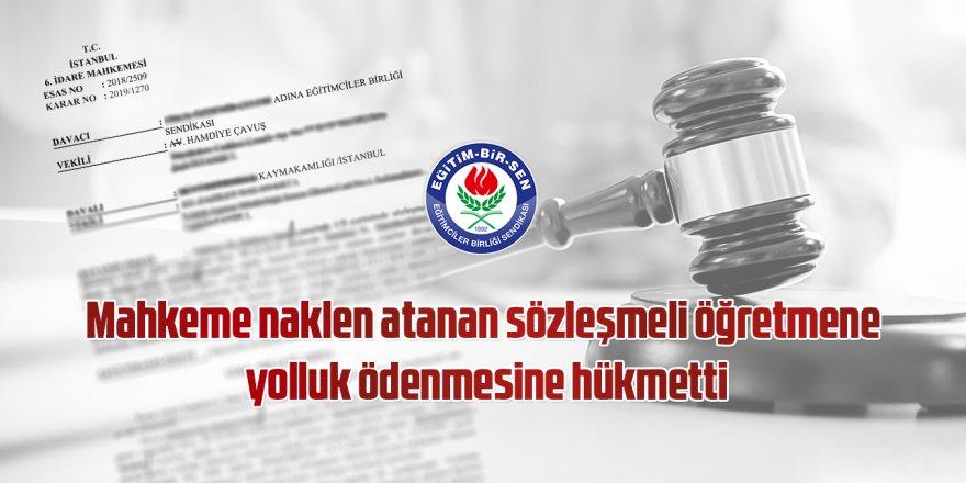 Naklen Atanan Sözleşmeli Öğretmenlere Yolluk Müjdesi! İşte Mahkeme Kararı