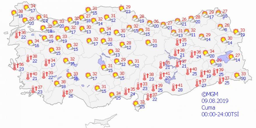 Kuzey ve iç kesimlerde sıcaklık artacak