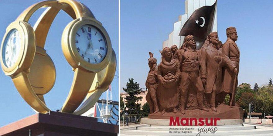Ankara'da 'kol saati' gitti, yerine Atatürk geliyor