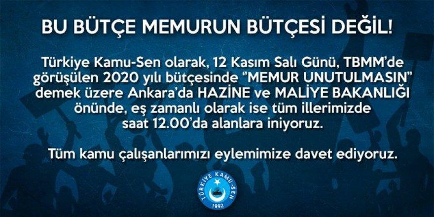 """Memurlar Sahaya İniyor! Ankara ve Tüm İllerde """"Bütçe"""" Eylemi!"""