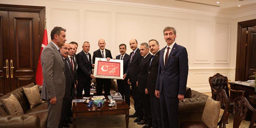 Türkiye Kamu-Sen'den Süleyman Soylu'yu Ziyaret