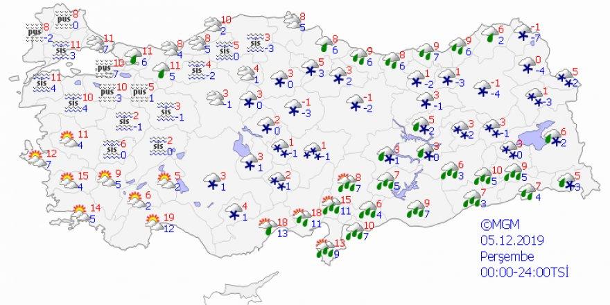 Meteorolojiden yoğun kar yağışı uyarısı - Haritalı
