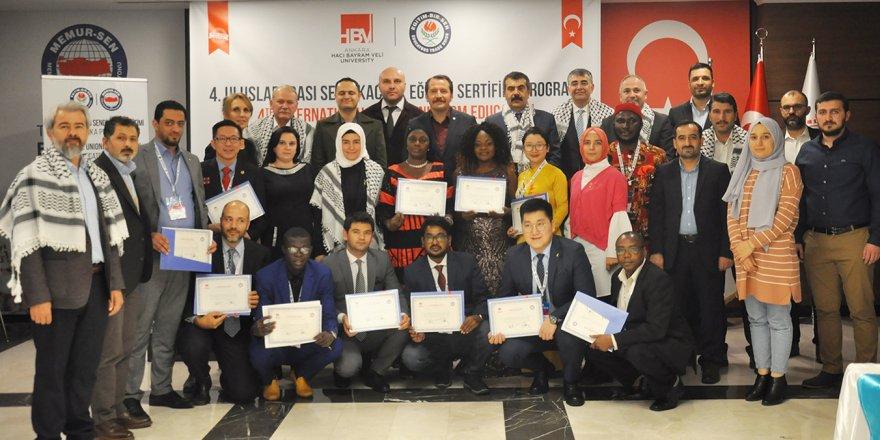 4. Uluslararası Sendikacılık Eğitimi Programı sertifika töreniyle sona erdi