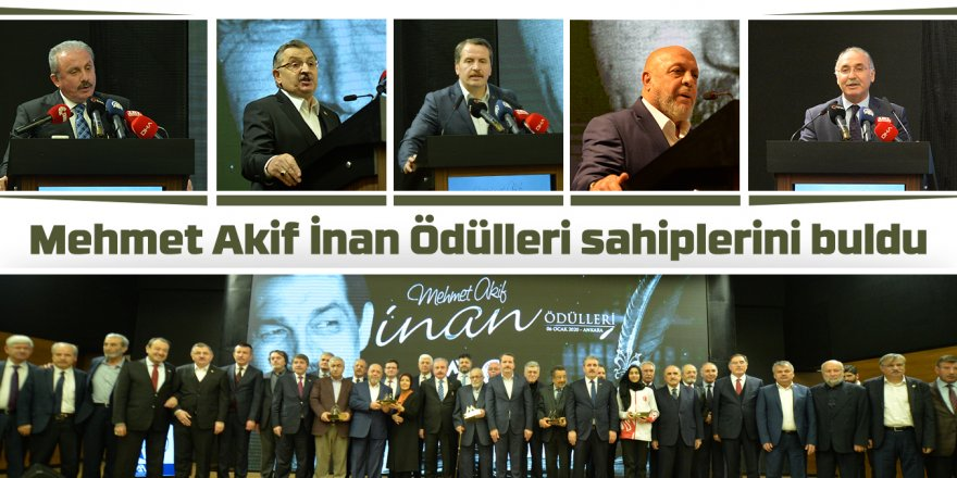 Mehmet Akif İnan Ödülleri sahiplerini buldu
