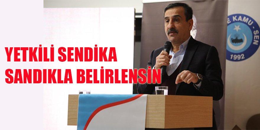 Önder Kahveci'den Flaş Öneri: Yetkili Sendika Sandıkla Belirlensin!