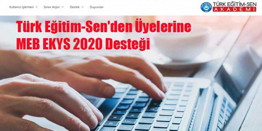 Türk Eğitim-Sen'den Üyelerine MEB EKYS 2020 Desteği