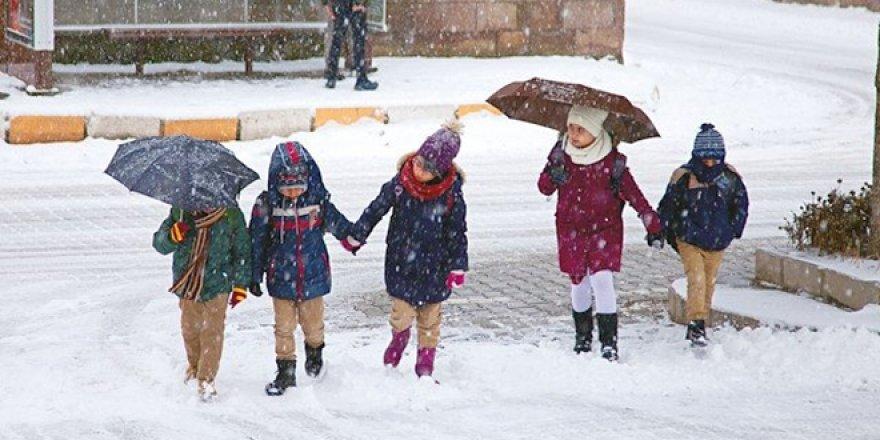 25 ilde eğitime kar engeli... Okullar tatil edildi