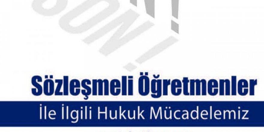 İşte Sözleşmeli Öğretmenler İle İlgili Türk Eğitim-Sen Faaliyetleri