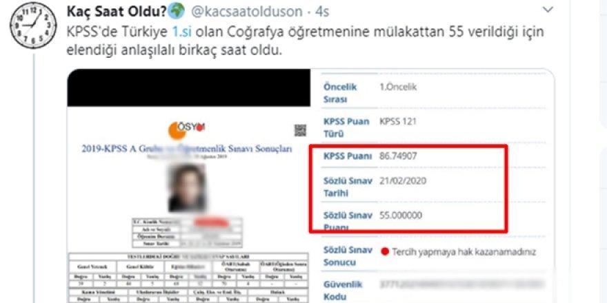 KPSS Türkiye 1.si, Bylock kullanıcısı olduğu için elendi
