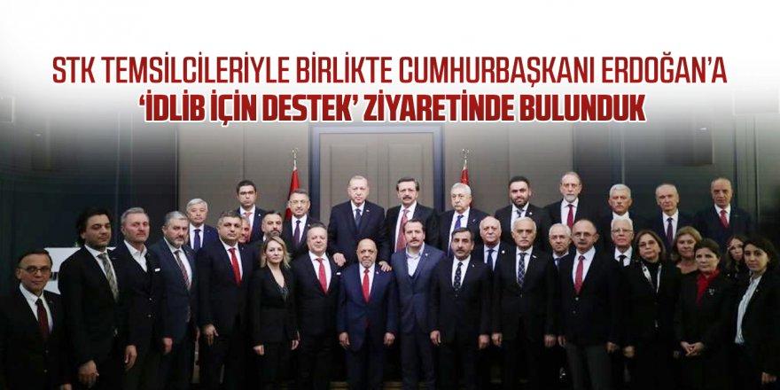 Cumhurbaşkanı Erdoğan'a 'İdlib için destek' ziyareti