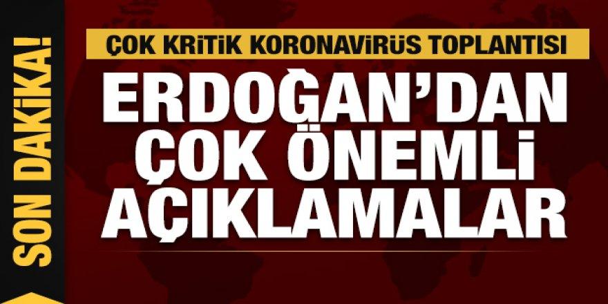 Erdoğan kritik toplantı öncesi açıklama yapıyor