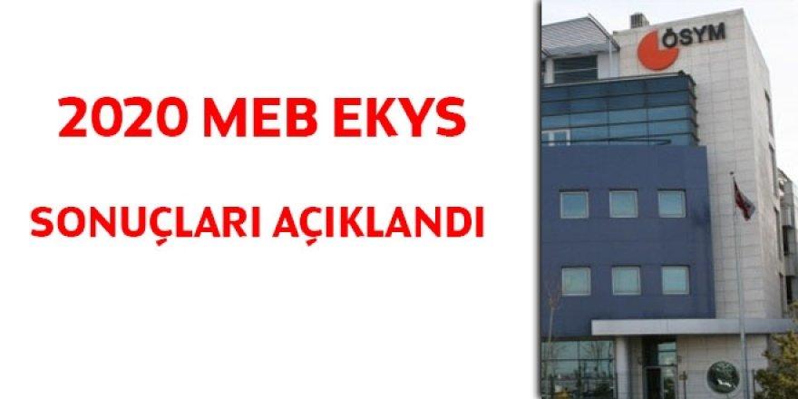 2020 MEB EKYS sonuçları açıklandı