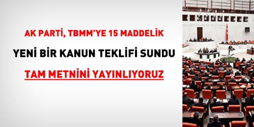 AK Parti'den 15 maddelik yeni teklif... KYK borçları erteleniyor