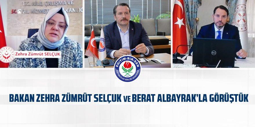 Ali Yalçın, Bakan Zehra Zümrüt Selçuk ve Berat Albayrak'la görüştü