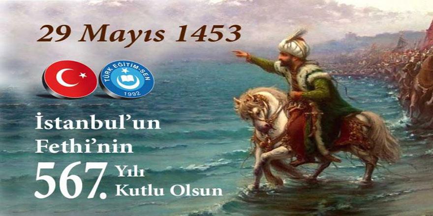 İstanbul'un Fethi; Tarihle Yaşıt Türk Milleti'nin Aleme Nizam Verme İnancının Çelikleşmiş İradesidir
