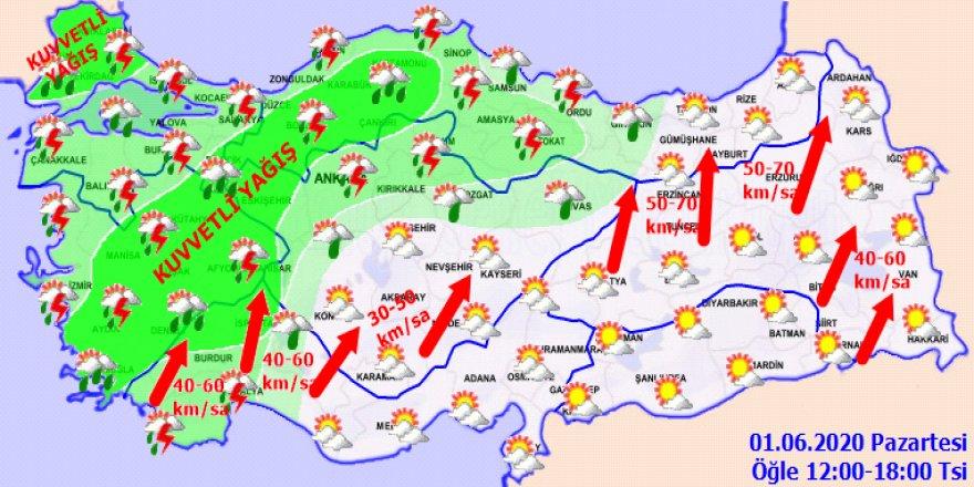 Yağışlar bir müddet daha devam edecek- Haritalı