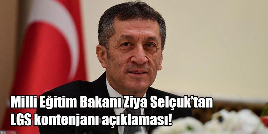 Bakan Ziya Selçuk'tan LGS kontenjanı açıklaması!