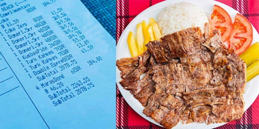 Turizmciler Derneği Başkanı: Bir porsiyon dönerin 370 lira olması normal