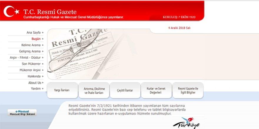 17 kuruma ait dolu/boş kadro kararnamesi yayımlandı