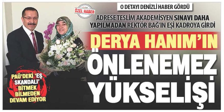 PAÜ Rektörü Bağ'ın eşini üniversitede yükseltme ısrarı sürüyor
