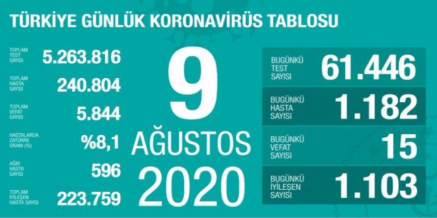 Yeni Vaka sayıları açıklandı - 25 ilde son iki gündür entübe hasta yok!