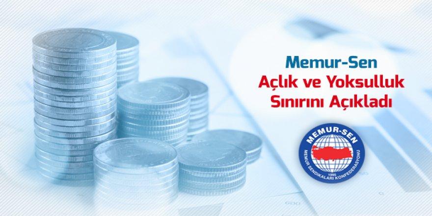 """Memur-Sen:""""Açlık Sınırı 2 Bin 455 Lira Oldu"""""""