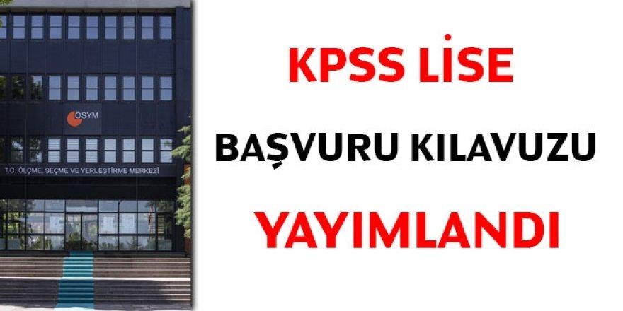 2020 KPSS lise başvuru kılavuzu yayımlandı