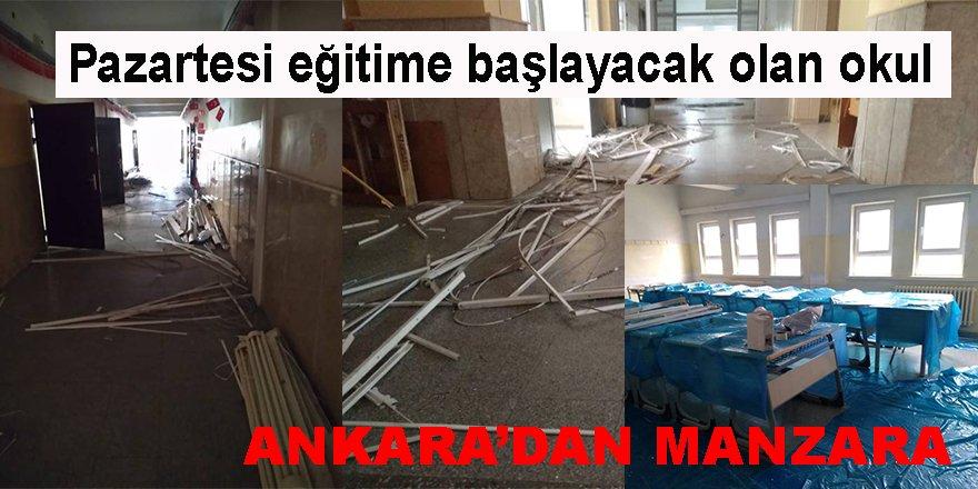 Ankara'da Anadolu Lisesi'nde Bitmeyen Tadilat - Veliler Şaşkın!