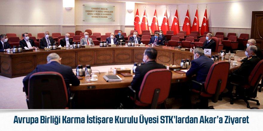 Avrupa Birliği Karma İstişare Kurulu Üyesi STK'lardan Akar'a Ziyaret