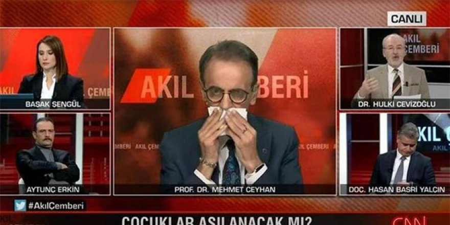 Prof. Dr. Ceyhan canlı yayında rahatsızlandı yayını bıraktı!