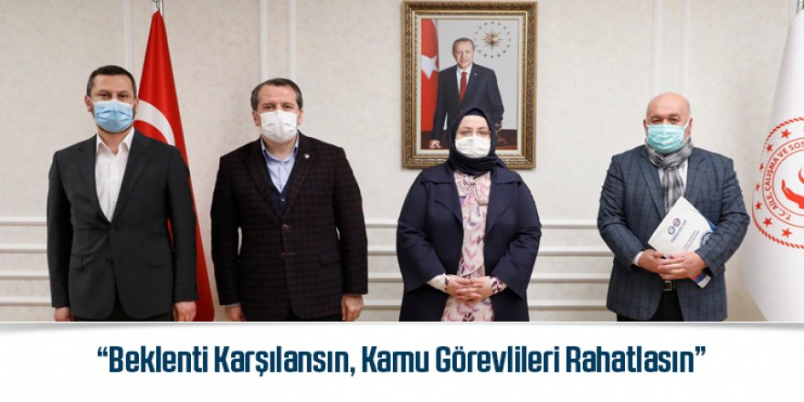 Ali Yalçın, Çalışma Bakanı Selçuk'la Seyyanen Zammı Görüştü