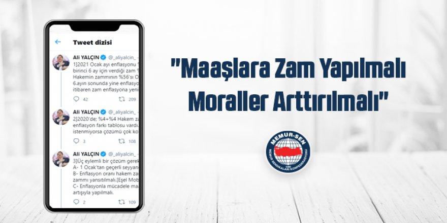 """Ali Yalçın: """"Kamu Görevlilerinin Maaşı Arttırılmalı"""""""