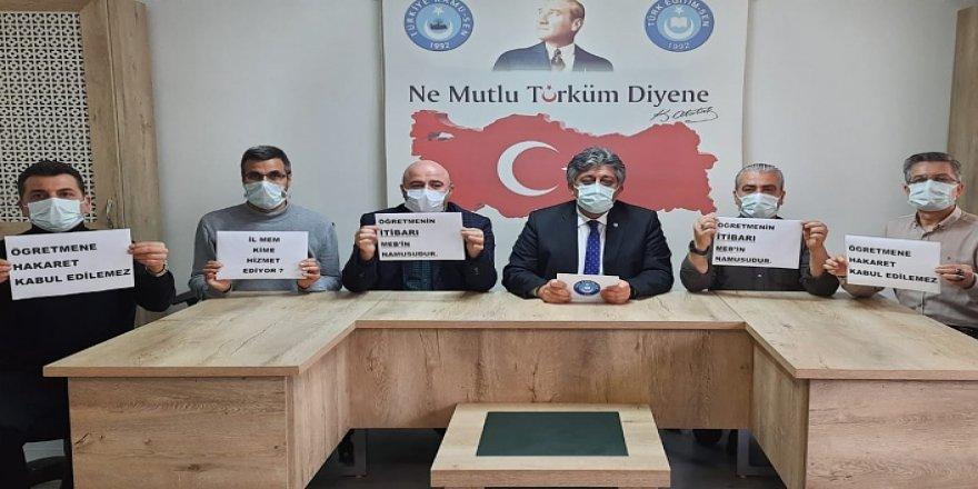Türk Eğitim-Sen'den Tepki: Öğretmene küfür edilmesini onayladılar!
