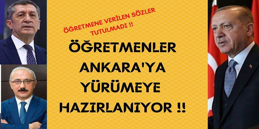 Öğretmenler 60 Bin Atama İçin Ankara'ya Yürüyor!