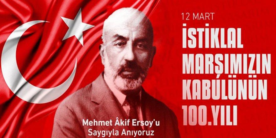 Önder Kahveci: İSTİKLAL MARŞIMIZIN KABULÜNÜN 100. YILDÖNÜMÜ KUTLU OLSUN