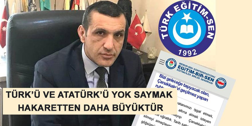 Türk'ü ve Atatürk'ü Yok Saymak, Hakaretten Daha Büyüktür!