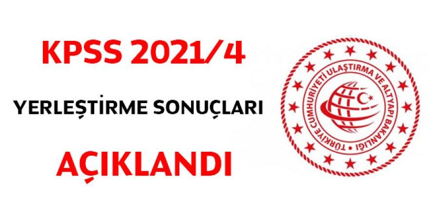 KPSS 2021/4 yerleştirme sonuçları açıklandı