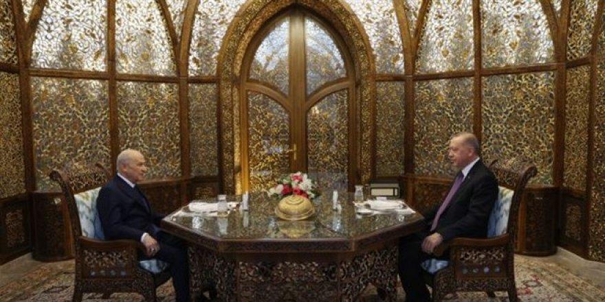 Erdoğan ile Bahçeli, Özbek Otağı'nda iftar yaptı