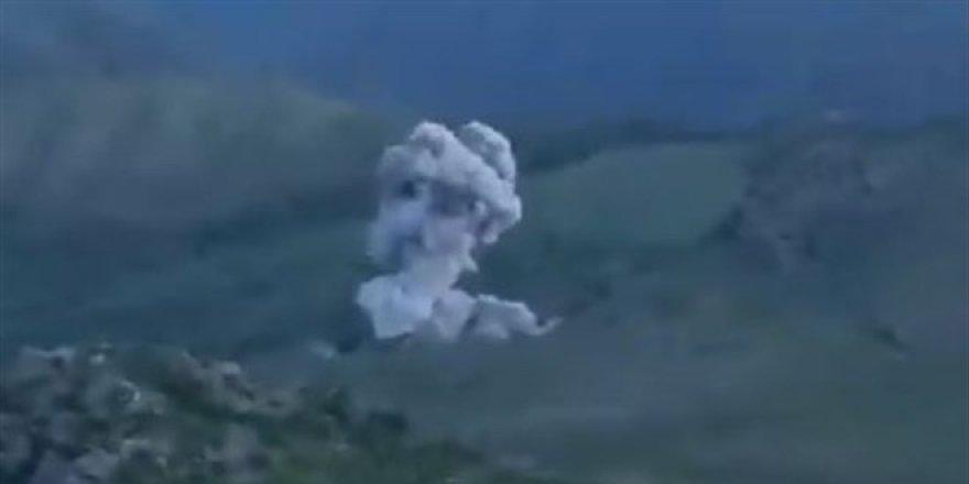 Terörist mevzileri Türk Hava Kuvvetlerince imha ediliyor