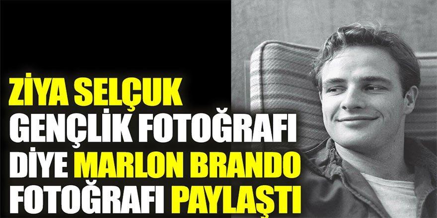 Ziya Selçuk gençlik fotoğrafı diye Marlon Brando fotoğrafı paylaştı